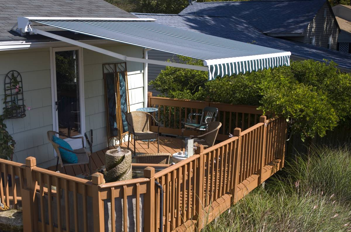 patios decks awnings windows suncoast roof mount eclipse awning retractable doors premier