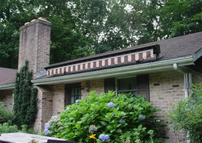 SunCoast Awning Retractable Roof Mount Retracted