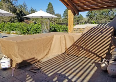 After Shot of Patio Cooking Area Custom Covers by SunCoast Awning