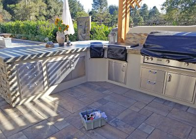 Patio Cooking Area Before SunCoast Awning Custom Cover